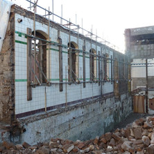 They are retaining part of the wall of the old baths as a feature of the new garden that is going to be constructed here.  -  6th January 2011