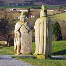 Two Roman Soldiers having a chat about the Scottish weather in the Goldenhill Park.  -  23rd January 2021