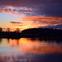 Early sunset at the River Clyde, Clydebank.  -  3rd January 2021