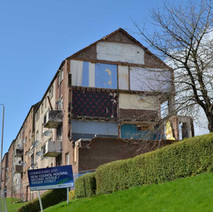 Second Avenue being demolished to make way for new housing. - 5th April 2016