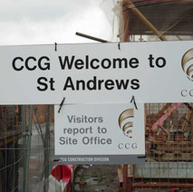 Welcome to St Andrews, the name of the new housing project on the site of St Andrew's School at the bottom of Dunedin Terrace/North Douglas Street.  -  1st February 2021