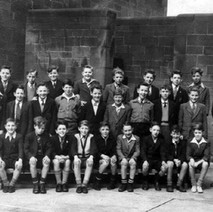 Chuck Faller's brother Bill at Victoria Drive School. He is third from the left (sitting). Early 50s - Photo supplied by Hughie (Chuck) Faller