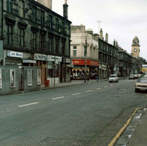 Looking down Glasgow Road towards Woolworth's. - Photo by Tommy Quinn.