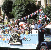 The Abbotsford Church Float in Parkhall  -  Clydebank Centenary Celebrations 1986  -  Photo by Sam Gibson