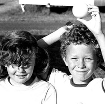 My big brother Billy's children, Annette and Brian having fun on holiday in St Andrews. - 16th July 1978