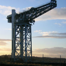 The Titan Crane is over 100 years old, sitting on the old John Brown's shipyard site.  -  6th February 2009