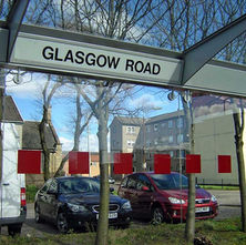 Bus Shelter, Glasgow Road. - 11th April 2009 - Clydebank