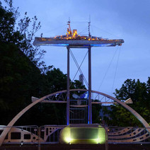 Test Lighting shot of the Beardmore Sculpture. - Wednesday 19th May 2010