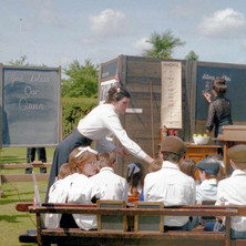 Schoolroom in the Dalmuir Park as part of the Clydebank Centenary Celebrations. Clydebank Centenary Celebrations 1986 - photo by Sam Gibson