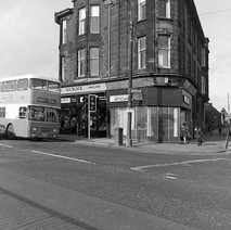 Kizil Mansions.  S.C. Black is well remembered by a great number of Bankies. - Saturday 3rd March 1979 Glasgow Road