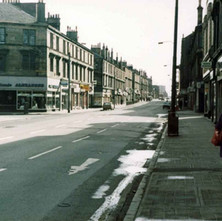 Glasgow Road looking down towards Alexander Street on the left. - Photo by Tommy Quinn.
