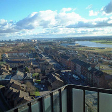 A view of Dalmuir and Clydebank.  -  13th February 2002