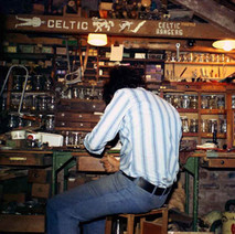 This is me working up in my dad's loft. This is 1977 but the loft had changed little since the 50s when my dad would take me and my two sisters up to make things. We all had our own little boxes with our bits of wood in them. - 11th September 1977
