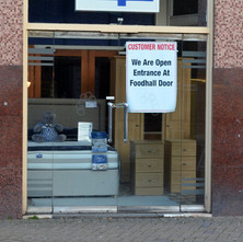Clydebank Co-operative Is having a hard time. Can't even get in through the main doors anymore. - 5th February 2013