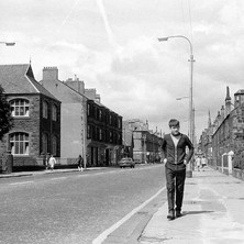 Glasgow Road, across the road on the left is Our Holy Reedemer School. - Photo by William Duncan
