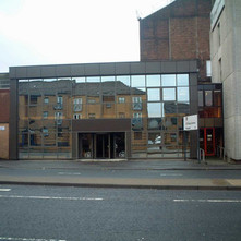 Kvaerner's office block on Glasgow Road.  -  27th January 2002