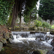 Small waterfall in Dalmuir Park - 22nd March 2018