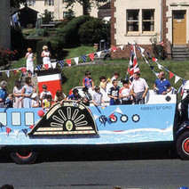 The Abbotsford Church float in Parkhall. Clydebank Centenary Celebrations 1986 - photo by Sam Gibson