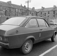 This is my car sitting in the soon-to-be demolished car park at the back of Glasgow Road. Saturday 19th August 1978
