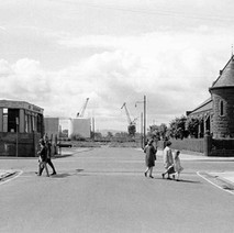 Standing in North Bank Street looking down across Glasgow Road to South Bank Street. - Photo by William Duncan