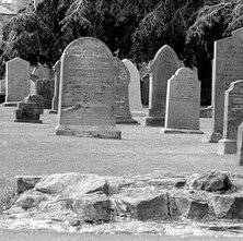 The graveyard surrounds the Cathedral of St Andrews. - 16th July 1978
