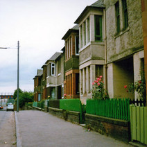 Houses on Whitecrook Street. Clydebank 1987. - Photos taken by Sarah from California, USA