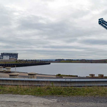 Down at the old John Brown's fitting-out dock at the River Clyde - 5th April 2012