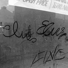 Elvis graffiti drawn on dirty window. I am a big Elvis fan but it wasn't me! - Saturday 3rd March 1979