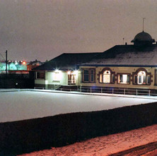 Clydebank Bowling Club in the snow, taken from my window at Dunedin Terrace. - January 1978 Clydebank