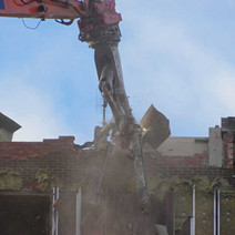 The demolition of the Clydebank East high flats continue.  -  23rd January 2020