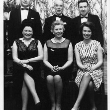HONOURED GUESTS 1967 Back row:- Provost Turner (Hon. Pres.), Patrons Mr Brown and Mr Tausney. Front row:- Mrs Turner, Mrs Brown, and Mrs Tausney. Photo supplied by Billy McKain and Davie King, Clydebank Cricket Club