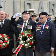 The Remembrance Service for The 75th Anniversary of the Clydebank Blitz at Solidarity Plaza. - 12th March 2016