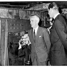 Charlie White with Prince Philip at the launch of QE2 The QE2 was launched and named on 20 September 1967 by Queen Elizabeth II