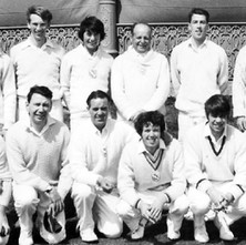 Clydebank Cricket Club on tour in Aberdeen in 1970. Back Row Scott Martin , Denis Taylor ,Brian Martin , Bob Mullen , Sandy McNicol ,Bill Martin. Front Row Billy McKain , Ronnie Riddell , Davie King , Billy King , Ian Webster , Alastair Hendry - Photo supplied by Billy McKain