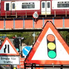 Railway bridge in Miller Street getting restored. All the railway bridges in Clydebank are getting restored. - 8th May 2012