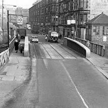 The canal bridge on Kilbowie Road - from the collection of Jack Carson