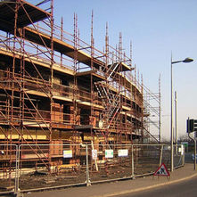 Clydebank's first eco-friendly flats being built in Cart Street. - 19th March 2009 - Clydebank