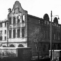 Boquhanran School, destroyed in the Clydebank Blitz 1941 - from the collection of Jack Carson