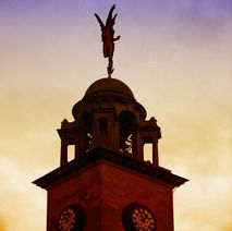 After 40 years, I put him back on top of the Town Hall. - 4th April 2009 - Town Hall, Clydebank