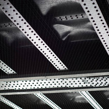 Riveted Steel, the underside of the railway bridge in Alexander Street. - 6th March 2019