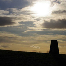 Trig Point in Goldenhill Park.  -  23rd January 2021