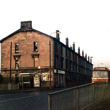 Tenements on the north side of the canal on Kilbowie Road. - Photo by Tommy Quinn.
