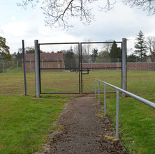 The old derelict tennis courts in Dalmuir Park - 19th April 2012