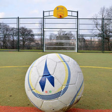 The new All-weather pitches in Dalmuir Park where the the old tennis courts used to be.  -  12th February 2013