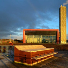 The new Power Plant beside the College at the River Clyde. It extracts heat from the river water and will heat buildings in the vacinity.  -  3rd January 2021