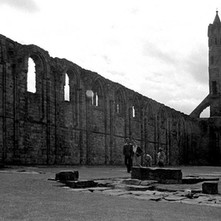 The ruins of the Cathedral of St Andrews. A lot of it has been reduced to its foundations by stone robbing. - 16th July 1978