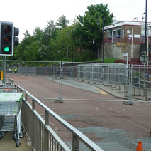 Chalmers Street is closed down for renovations to the bus station. - 11th May 2011