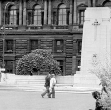 Cenotaph and the City Chambers. - 2nd July 1979