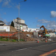 The site on Second Avenue  is being prepared for the new Social Housing that is going to be built there.  10th April 2017