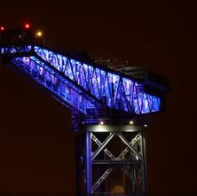The Titan Crane illuminated. - 29th January 2011
